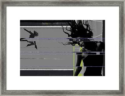 Shuttered Glass Framed Print by Naxart Studio