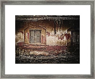 Shuttered Window Framed Print by Skip Nall