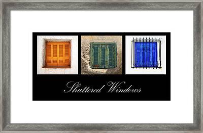 Shuttered Windows Framed Print by Meirion Matthias