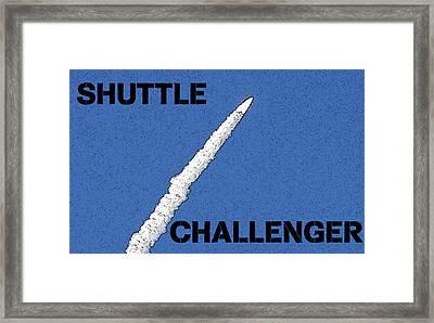 Shuttle Challenger  Framed Print by David Lee Thompson