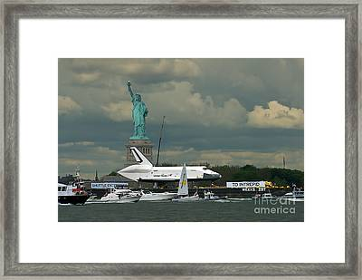 Shuttle Enterprise 3 Framed Print by Tom Callan
