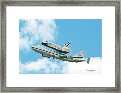 Shuttle Enterprise Comes To Ny Framed Print by Regina Geoghan