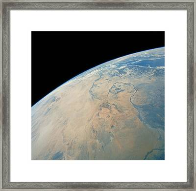 Shuttle Photograph Of Northern Sudan Framed Print by Nasa