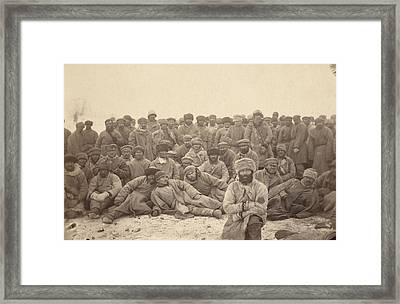 Siberia, A Group Of Hard-labor Framed Print