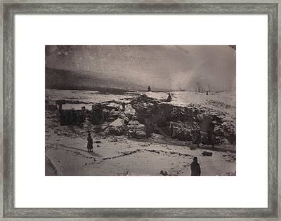 Siberia, Prison Guards Surrounding Framed Print by Everett