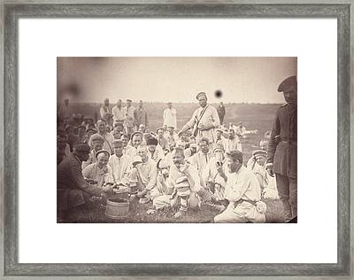 Siberia, Siberian Convicts Taking Lunch Framed Print