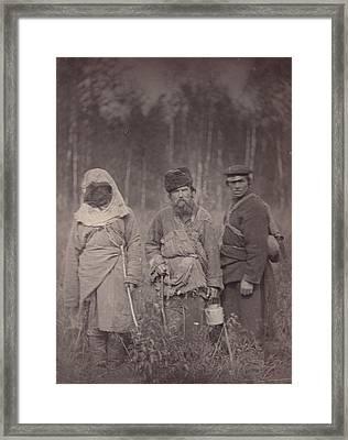 Siberia, Three Escaped Convicts Framed Print