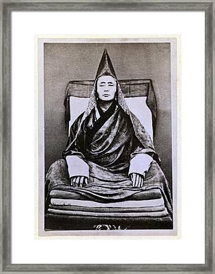 Siberian Lama. The Buryat Grand Lama Framed Print