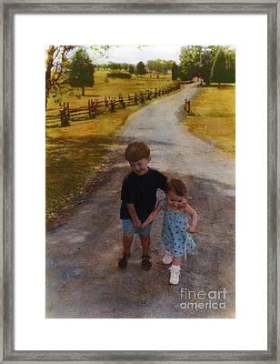 Siblings Framed Print by Cindy Roesinger