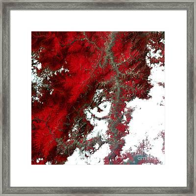 Sichuan Landslides, Post Earthquake Framed Print