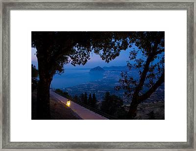 Sicilian Dusk Framed Print