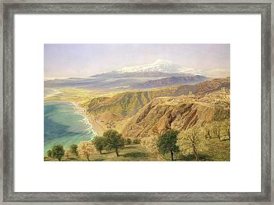 Sicily - Taormina Framed Print by John Brett