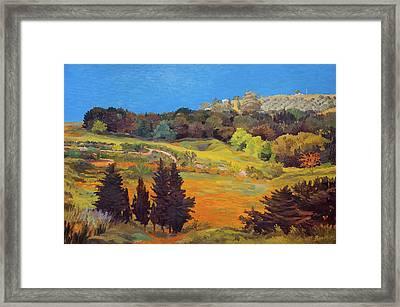 Sicily Landscape Framed Print