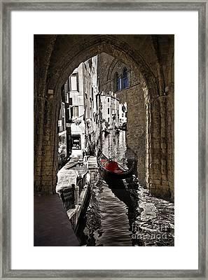 Sicily Meets Venice Framed Print by Madeline Ellis