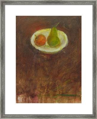 Framed Print featuring the painting Side By Side by Kathleen Grace