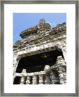 Side Of A Castle Framed Print by Meandering Photography