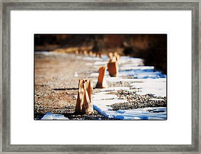 Side Road Luminaries Framed Print by Lisa  Spencer