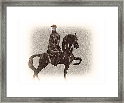 Side Saddle Framed Print by Al Bourassa