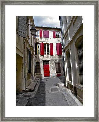 Sidestreet In Arles Framed Print by David Ritsema