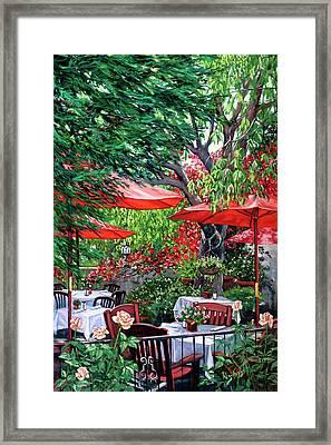 Sidewalk Cafe Framed Print by Lisa Reinhardt