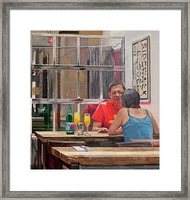 Sidewalk Closed Framed Print by Elinore Schnurr