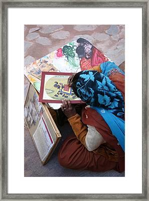 Sidewalk Sale Framed Print by Tia Anderson-Esguerra