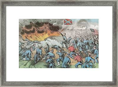 Siege And Capture Of Vicksburg, 1863 Framed Print by Photo Researchers