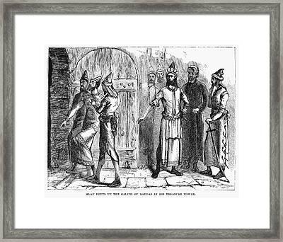 Siege Of Baghdad, 1258 Framed Print by Granger