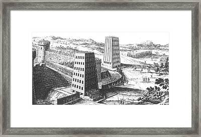 Siege Of Jerusalem 1229 Framed Print by Photo Researchers