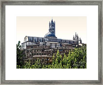 Siena Italy - Siena Cathedral -02 Framed Print by Gregory Dyer