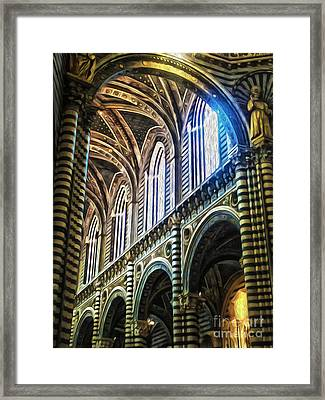 Siena Italy - Siena Catheral Framed Print by Gregory Dyer