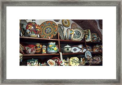 Siena Pottery Framed Print by Nettie Pena