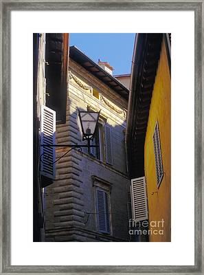 Siena Street Framed Print by Gordon Wood