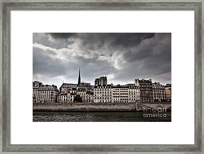 Siene River Scene Paris Framed Print by Ei Katsumata