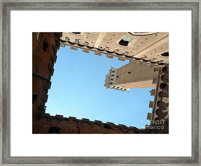 Sienna Tower Framed Print by Elizabeth Fontaine-Barr