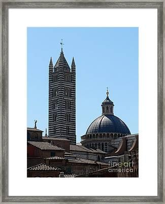 Sienna's Duomo Framed Print by Elizabeth Fontaine-Barr