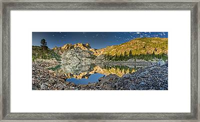 Sierra Buttes Panorama 1 Framed Print by Greg Nyquist