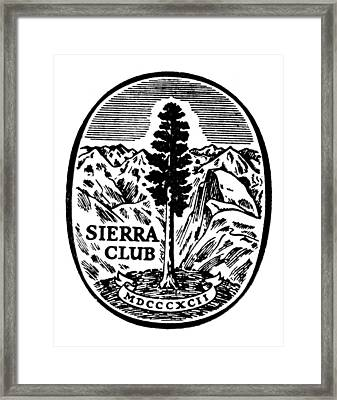 Sierra Club Seal Framed Print
