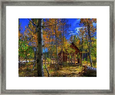 Sierra Nevada Fall Colors Barn Framed Print by Scott McGuire