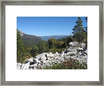 Sierra Nevada Mountains 1 Framed Print