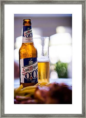 Siesta Time I. Beer Sun Miguel Framed Print by Jenny Rainbow