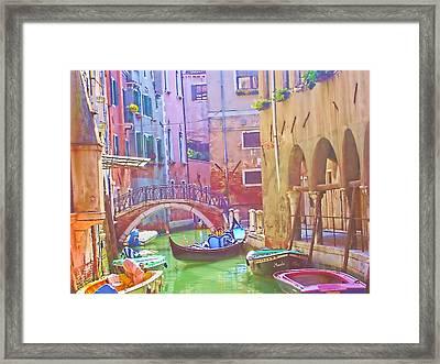 Siesta Time In Venice Framed Print