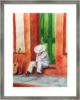 Framed Print featuring the painting Siesta Time by Tom Riggs
