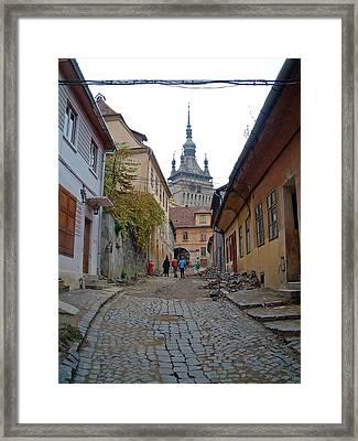 Sighisoara Citadel Romania Framed Print by Mircea Veleanu
