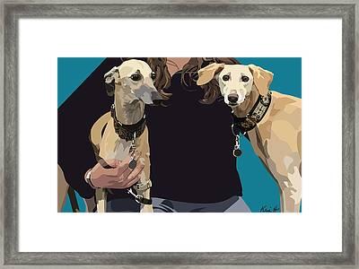 Sighthounds Framed Print by Kris Hackleman