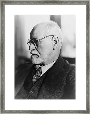 Sigmund Freud 1856-1939, In The 1930s Framed Print by Everett