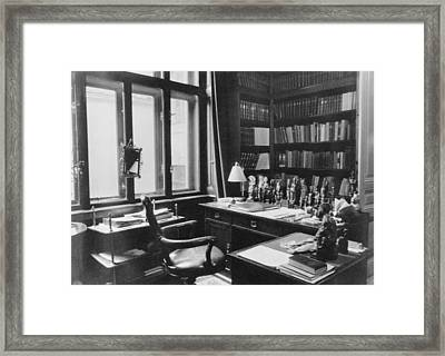 Sigmund Freuds Writing Desk Framed Print by Everett