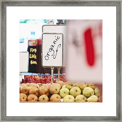 Sign Advertising Organic Produce Framed Print by Jetta Productions, Inc