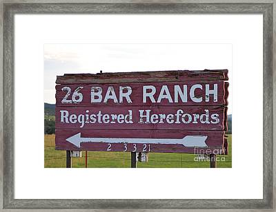 Sign Of John Waynes Old Ranch Framed Print