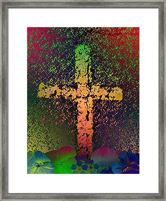 Framed Print featuring the photograph Sign Of The Cross by David Pantuso